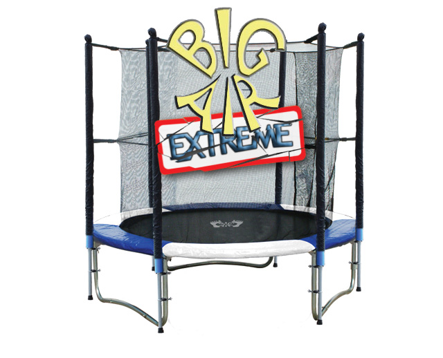 8ft Trampoline Big Air Extreme With Safety