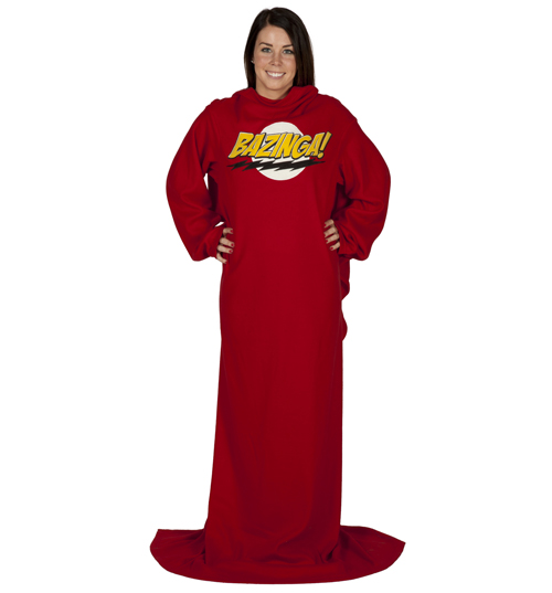 Bang Theory BAZINGA Fleece Snuggler