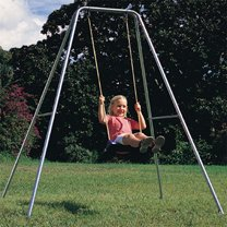 deluxe galvanised single swing