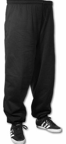 Big Mens Black BTS 31 Inch IL Joggers (Elasticated Ankle) 2xl to 8xl, Size : 5XL