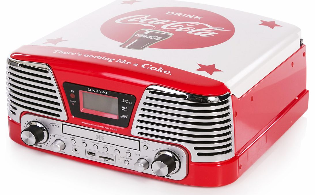 Classic Coca-Cola Vinyl CD MP3 USB SD Radio
