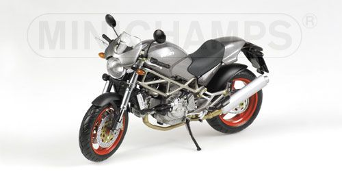 Ducati Monster S4 anthracite with red wheels 1:12