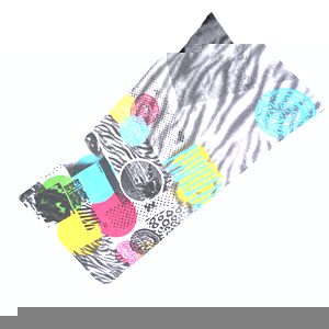 Ink D Beach Towel - White