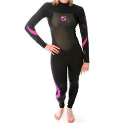 Ladies Synergy 3/2 Full Wetsuit - Blk/Pi