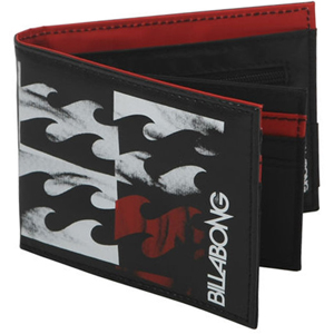 Mens Billabong 4 Stack Wallet. Red