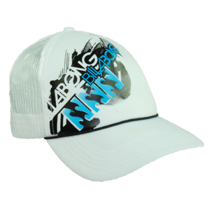 Mens Billabong Depression Trucker Cap. White