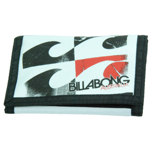 Mens Billabong Surf Trip Wallet. White