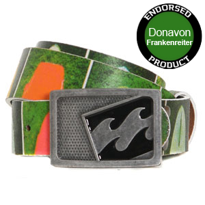 Surf Tail (boards) Leather belt - Black