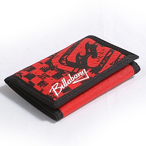 Surf Trip Check Wallet - Red