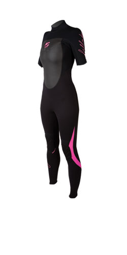 Synergy 3mm Ladies SS Steamer Wetsuit 09