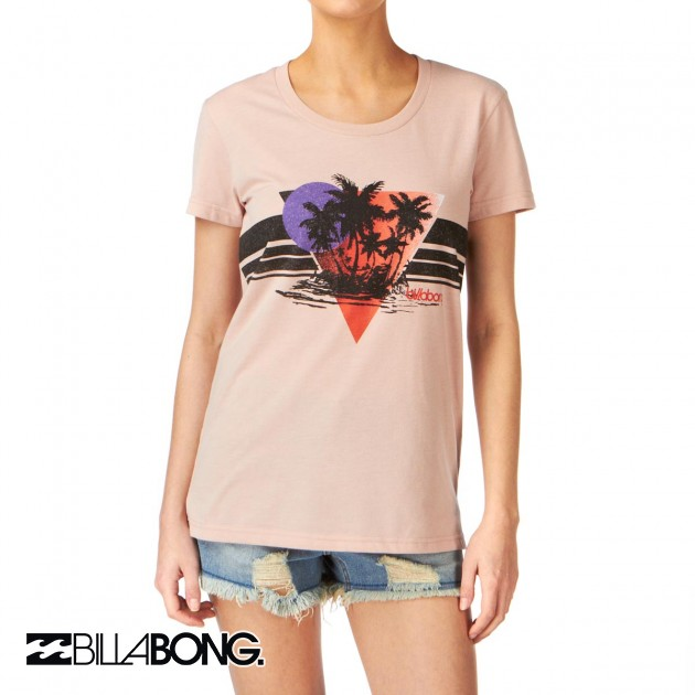 Womens Billabong Blooming T-Shirt - Rose Tea