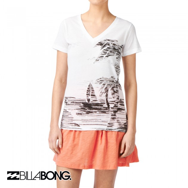 Womens Billabong Chandi T-Shirt - White