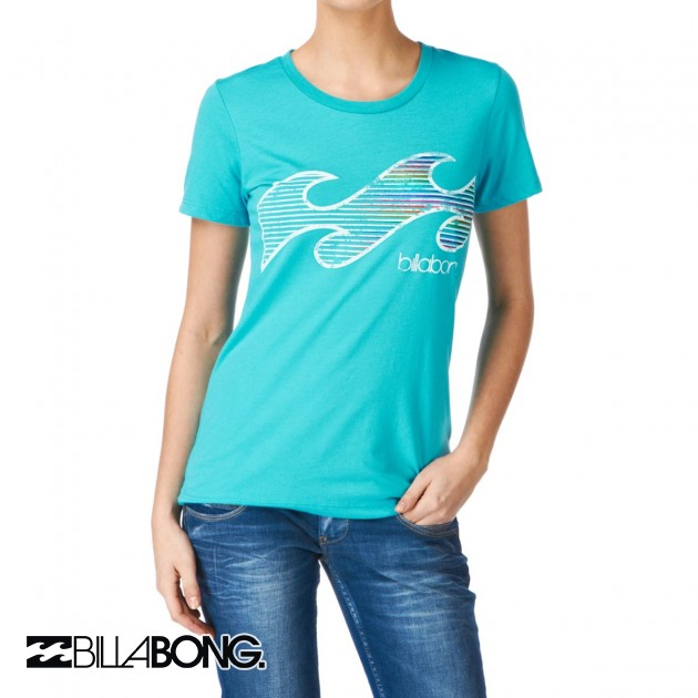 Womens Billabong Luciano T-Shirt - Turquoise