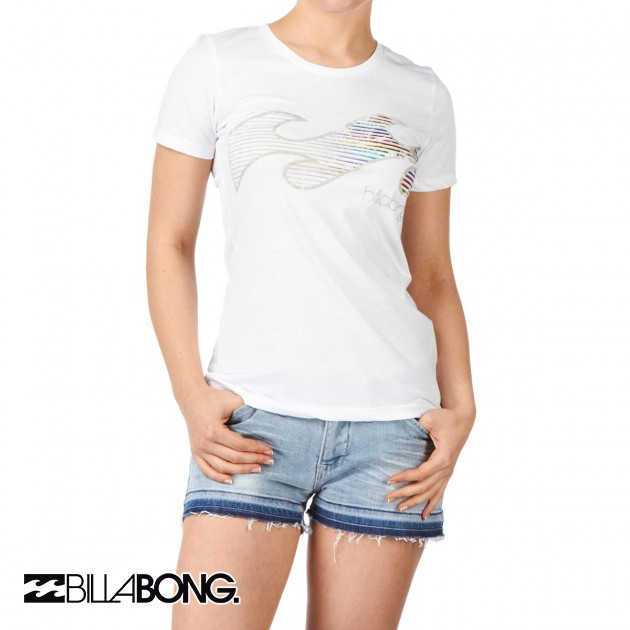 Womens Billabong Luciano T-Shirt - White