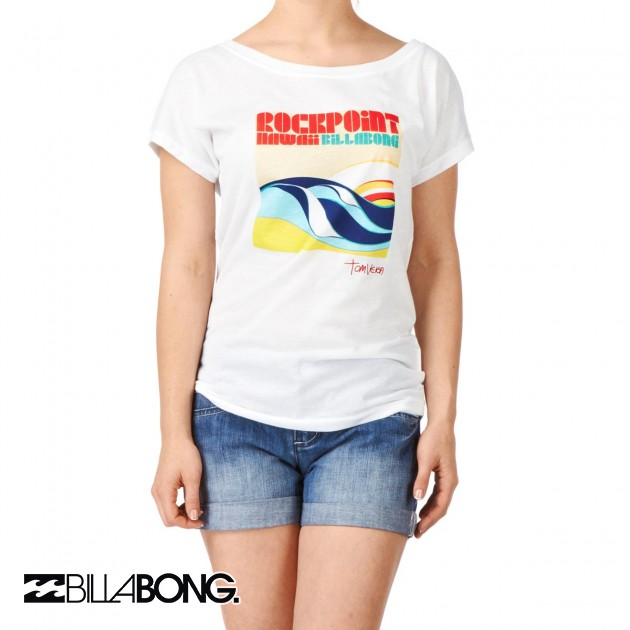 Womens Billabong Picoalto T-Shirt - White