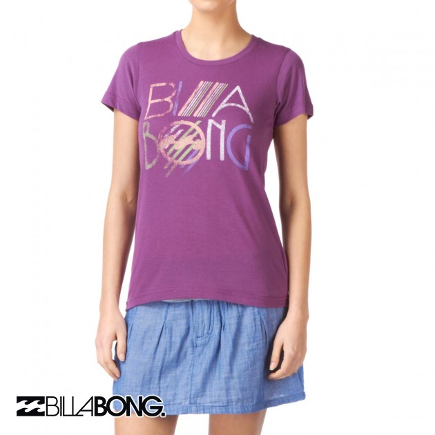 Womens Billabong Spotlight T-Shirt - Aubergine
