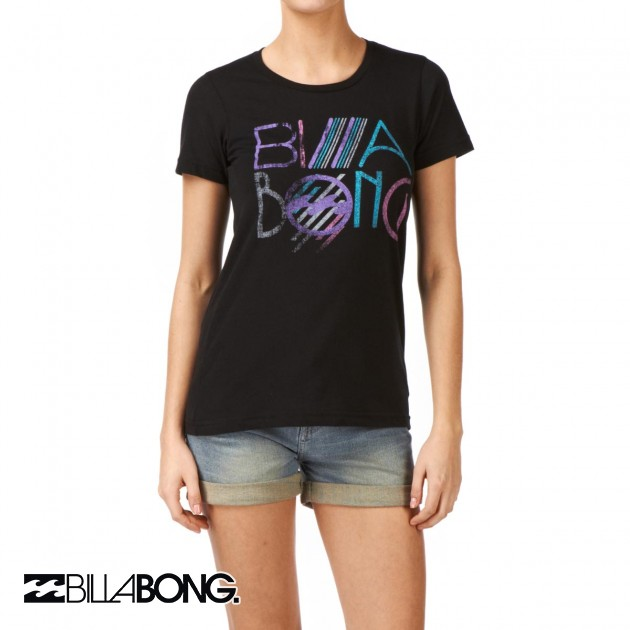 Womens Billabong Spotlight T-Shirt - Black