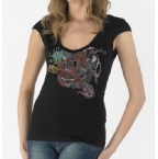 Womens Lula T-Shirt Black