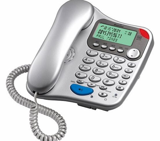 Lyris 710 Corded Phone with Answer Machine - Silver