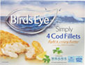 4 Simply Cod Fillets in Batter (450g)