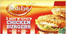 Hot and Spicy Chicken Burgers (2 per