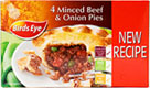 Minced Beef and Onion Pies (4x155g) Cheapest in Sainsburys Today! On Offer
