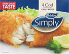 Simply Cod Fillets in Batter (4 per