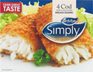 Simply Cod Fillets in Breadcrumbs (4