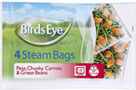 Steam Bags Carrots, Peas and Green
