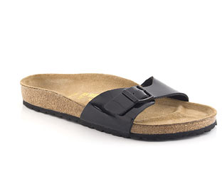 Patent Footbed Sandal