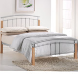 135cm Tetrus Double Metal and Wood Bed