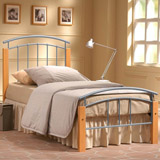 90cm Tetrus Single Metal and Wood Bed
