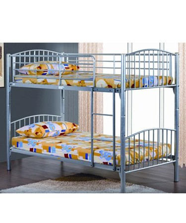Corfu 3ft Bunk Bed In A Silver Finish