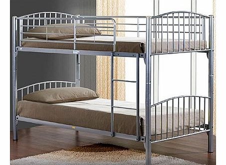 Corfu 3ft Silver Bunk Bed