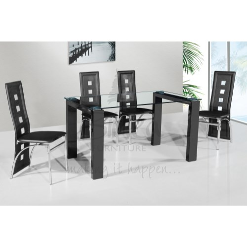 Finchley Dining Set in Black