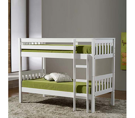 Seattle Solid Pine Bunk Bed in White