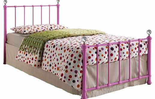 Jessica 3 ft Single Bed, Pink