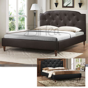 Manhattan 4FT 6 Double Leather Bedstead