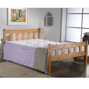 Miami 4FT Small Double Wooden Bedstead