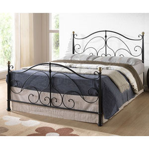 Milano 4FT Small Double Metal Bedstead -