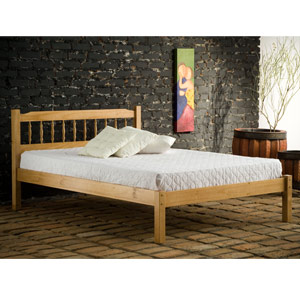 Santos 4FT Small Double Wooden Bedstead