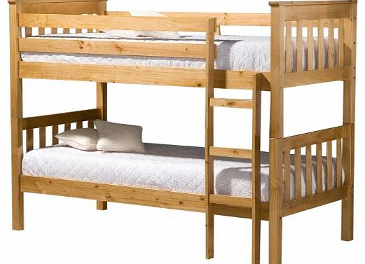 Seattle 3 ft Bunk Bed, Pine