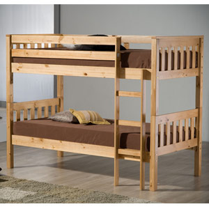Seattle 3FT Single Bunk Bed - Pine