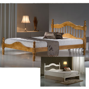Texas 4FT Small Double Wooden Bedstead