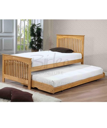 Toronto 3ft Rubber Wood Bed With Guest Bed
