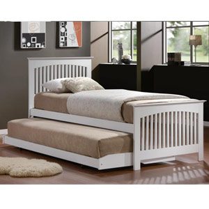 Toronto 3FT Single Wooden Guest Bed - White