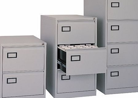 Bisley AOC4-av4-001 1321x470x622mm Flush Front Filing Cabinet with 4 Drawers - Goose Grey