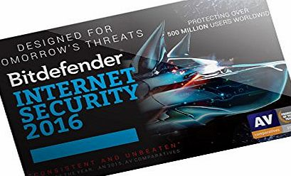 Bit Defender Bitdefender Internet Security 2016 - 1 Year - 3 Users - POSA (PC)