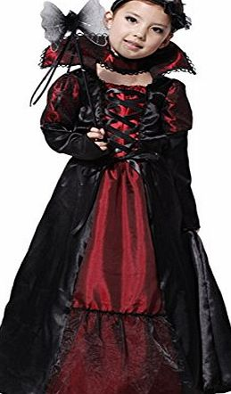 Biwinky Kids Girls Gothic Vampiress Costume Halloween Cosplay Clothing 4-6Y