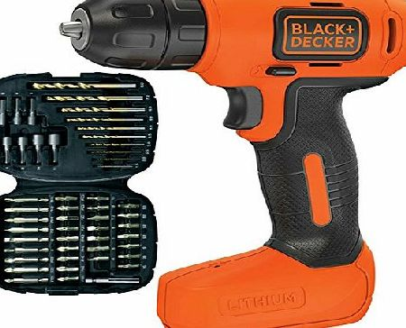 Black   Decker Black amp; Decker Compact Lightweight Cordless Rechargeable Drill and Screwdriver Includes 50 Drill   Screw Bits